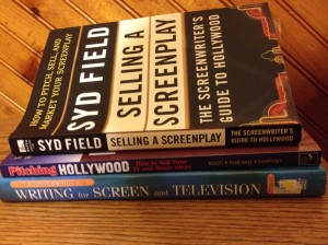 Three of my film business textbooks.